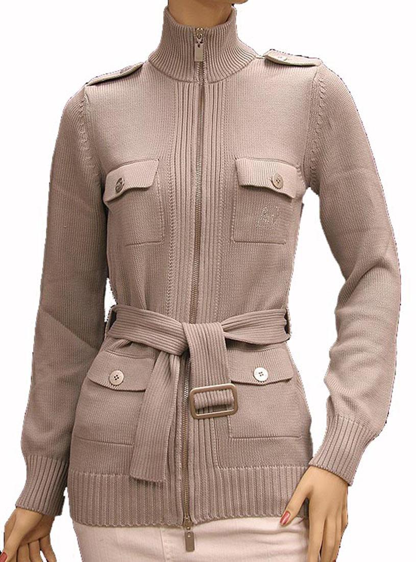 Armani Jeans Womens Sweater Light Gray Cotton