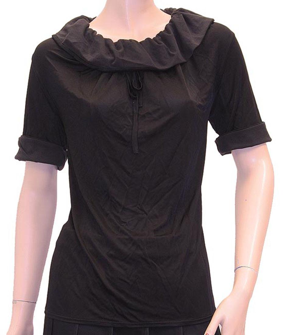 Armani Jeans Womens Top Blouse Shirt Black