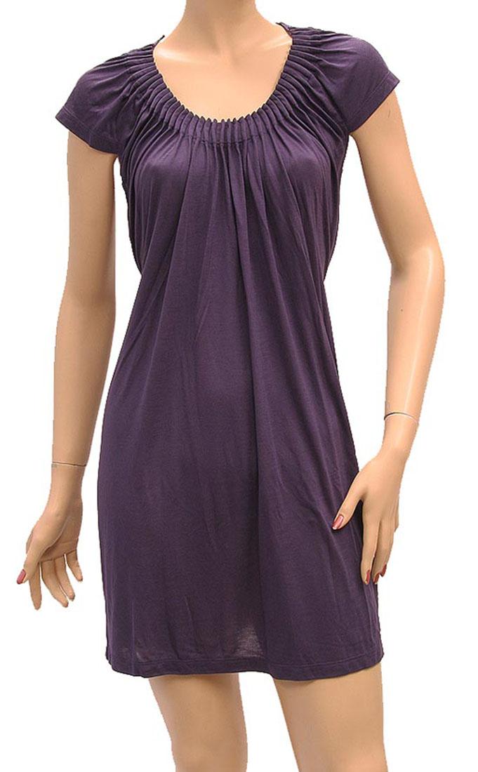 Armani Jeans Womens Knee Length Dress Purple