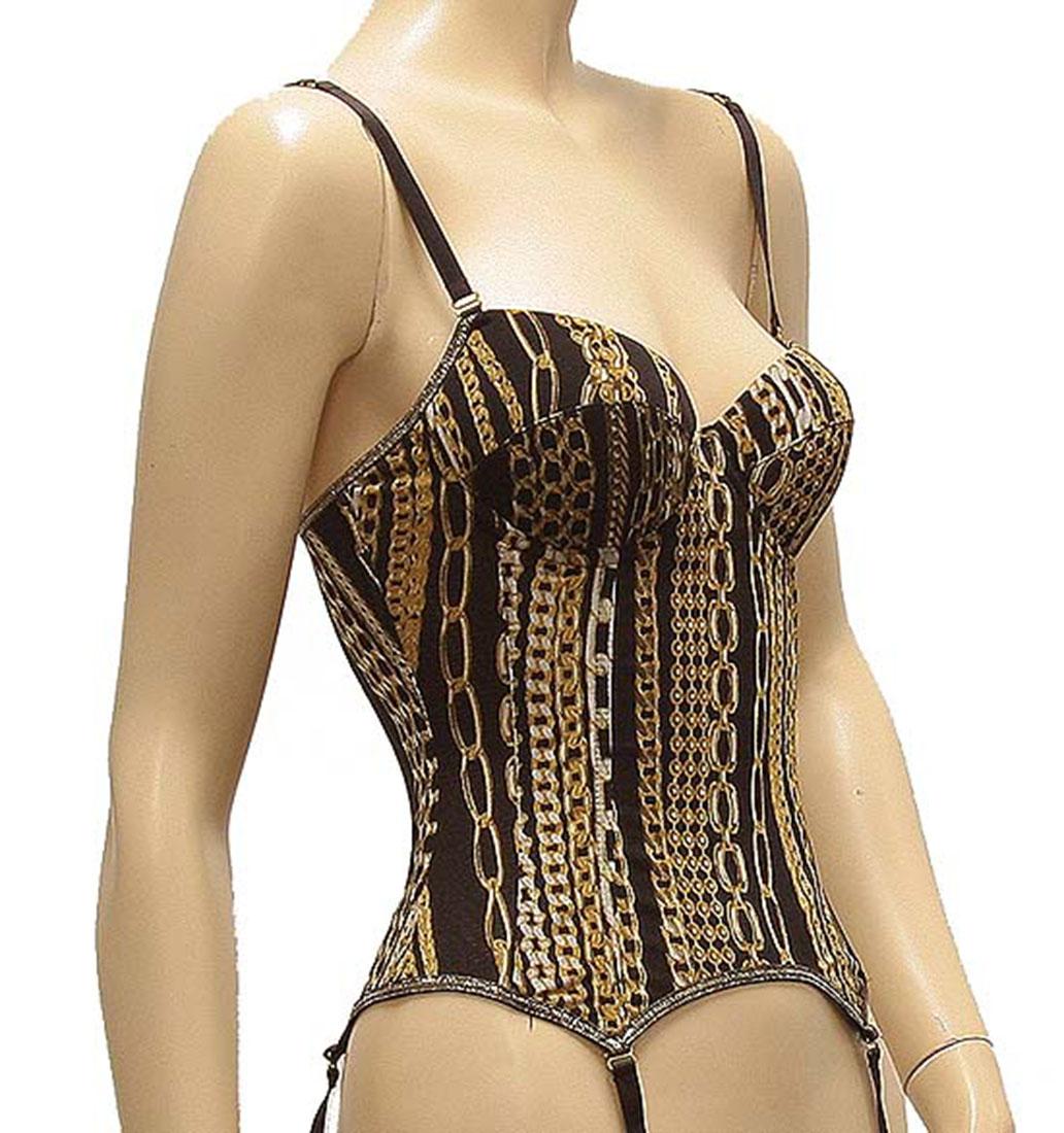 Roberto Cavalli Womens Underwear Lingerie Bras Black Brown