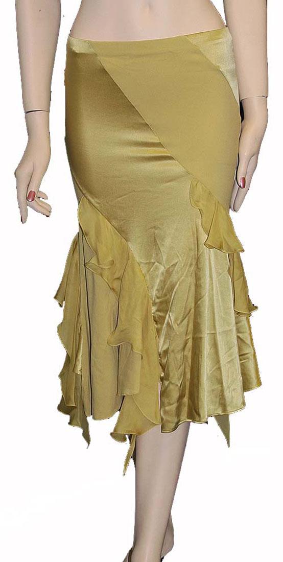 Roberto Cavalli Womens Skirt Yellow Silk