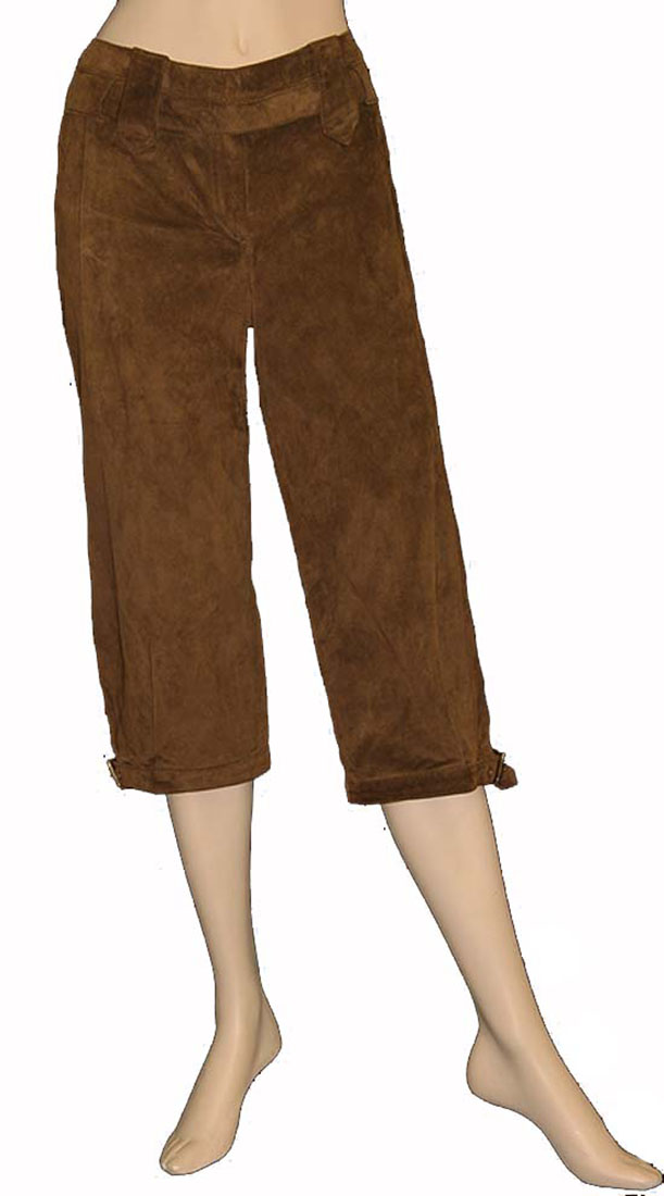 Roberto Cavalli Womens Pants Trousers Brown Leather