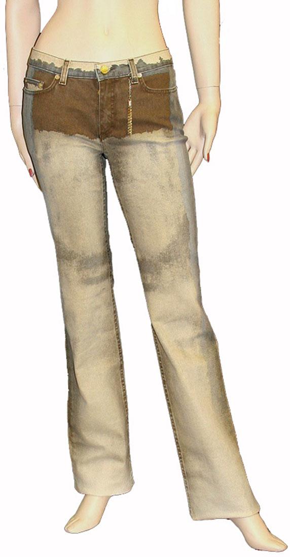 Roberto Cavalli Beige Cotton Jeans