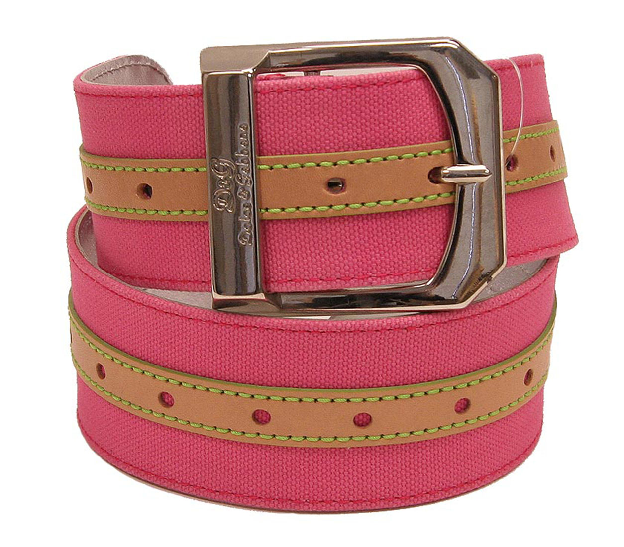 DG Womens Belt Pink Fucsia Leather