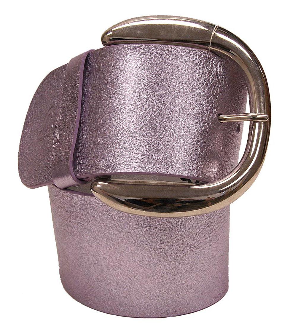 DG Womens Belt Purple Silver Leather