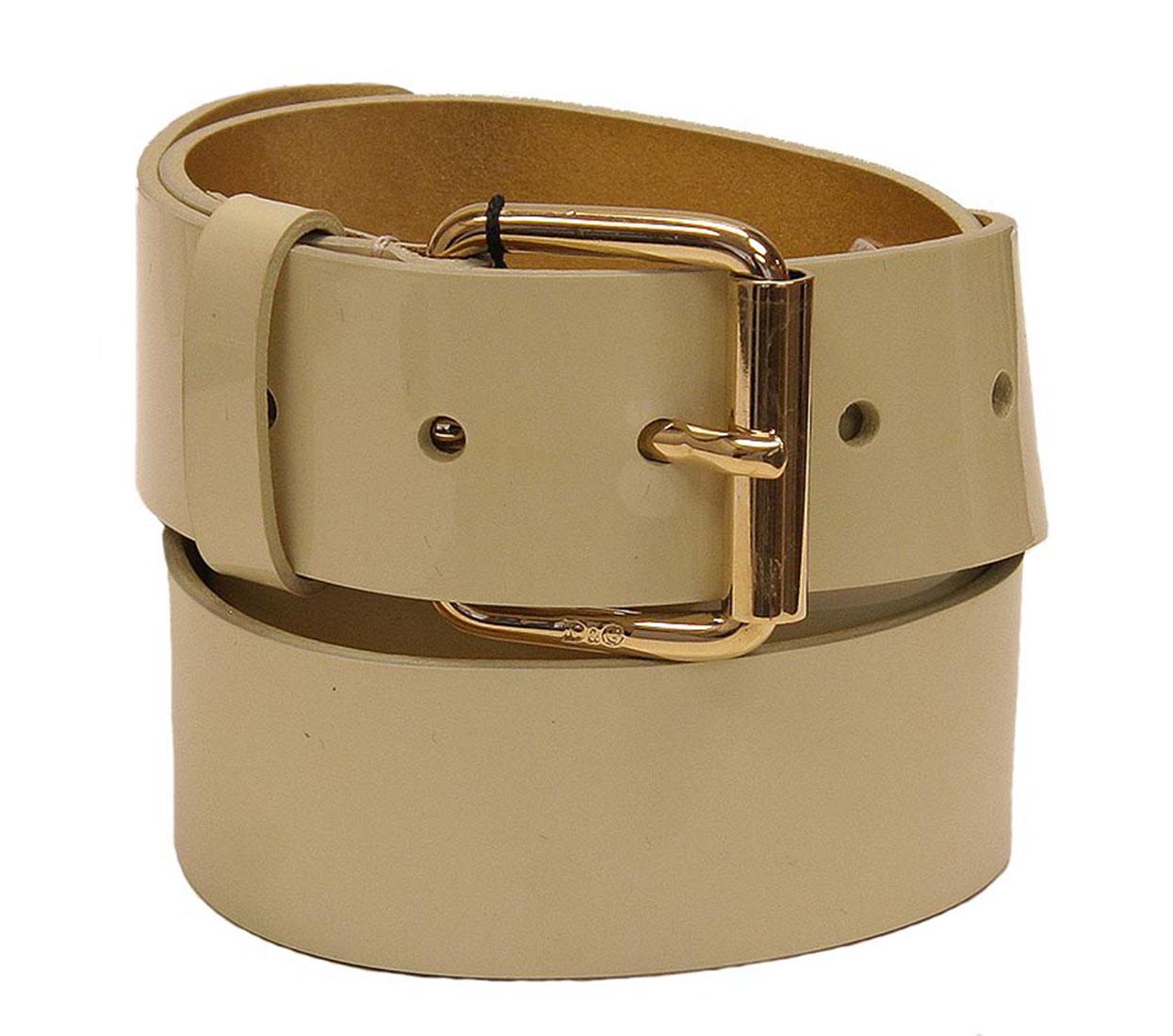 DG Womens Belt Beige Leather