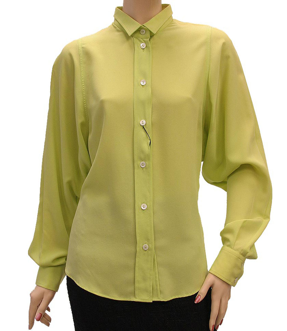 Lime Green Blouse Womens 3