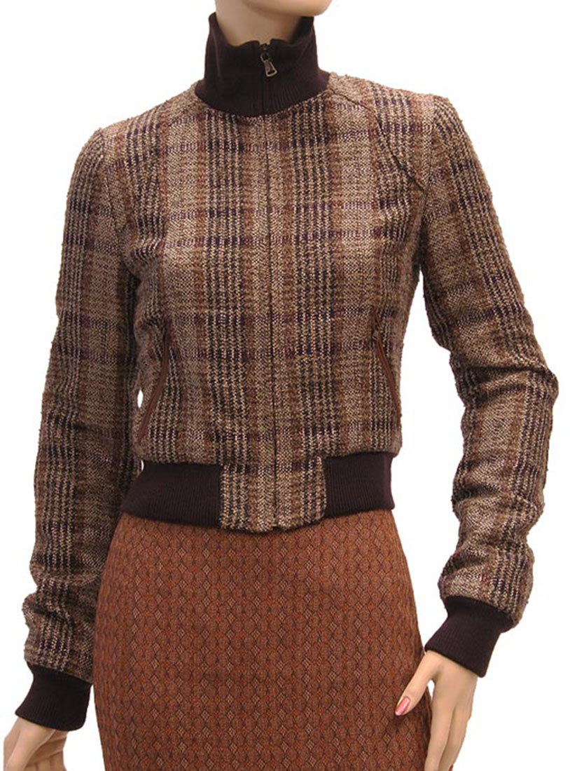 DG Womens Jacket Coat Brown Lamb