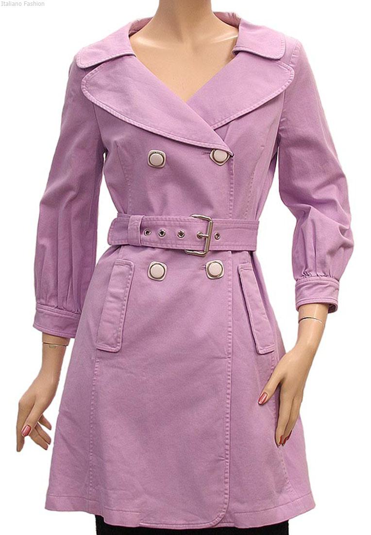 DG Womens Jacket Coat Lilac Cotton