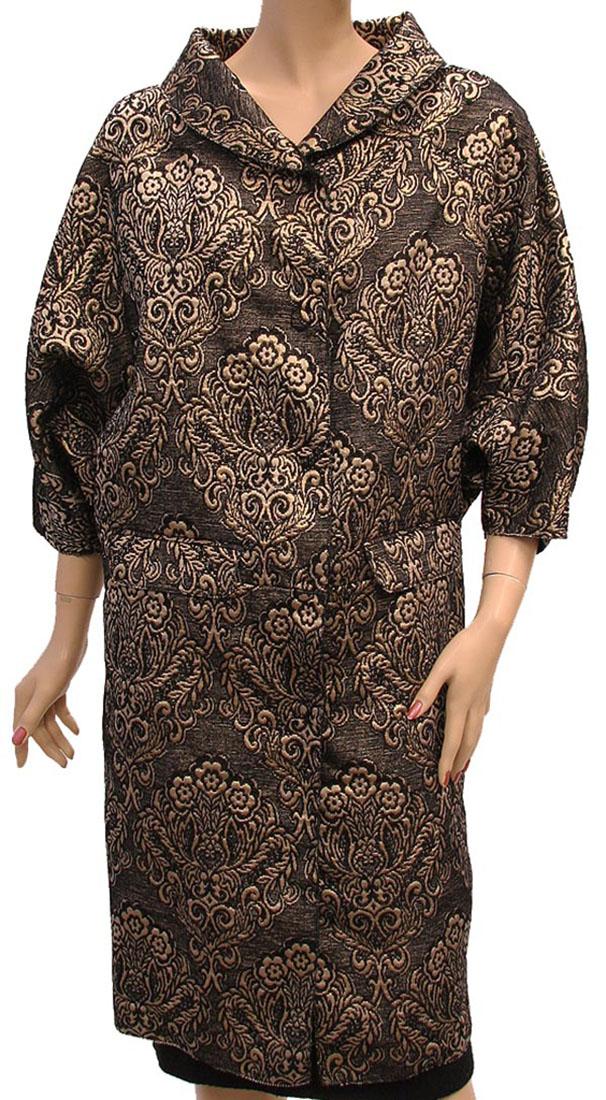 D G Womens Jacket Coat Black Gold Cotton