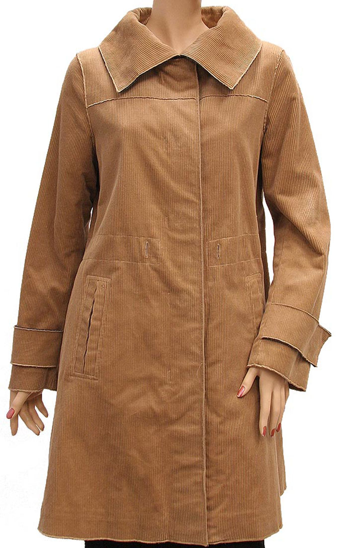 DG Womens Jacket Coat Light Brown Beige Wool