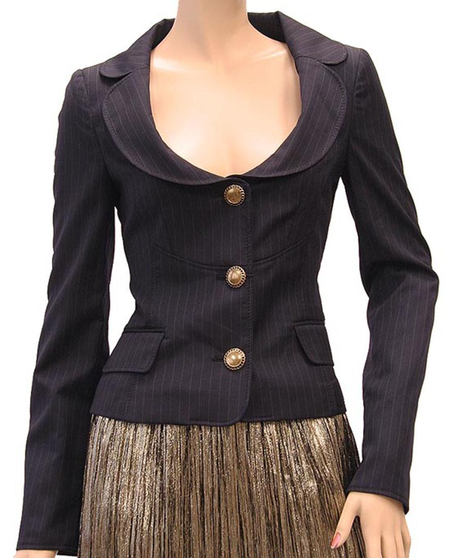 DG Womens Jacket Coat Navy Blue