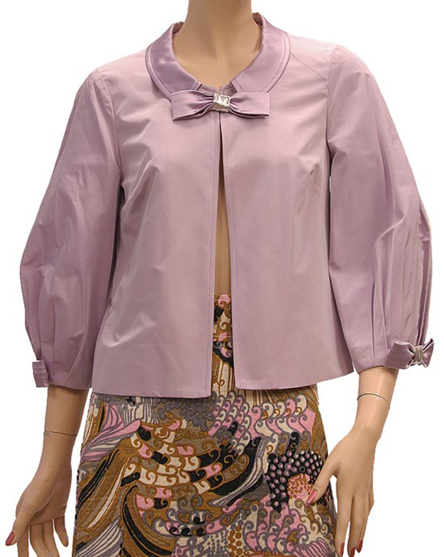 DG Womens Jacket Coat Lilac Silk