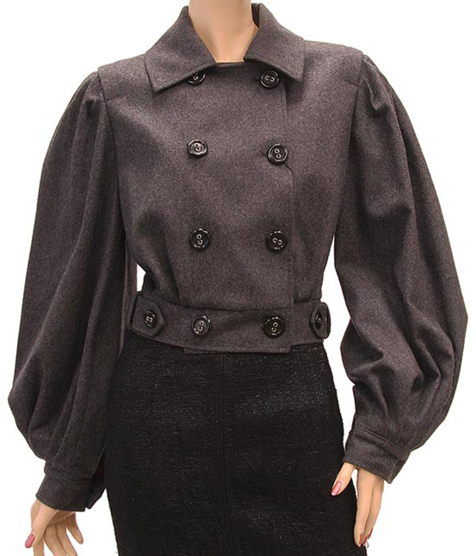 DG Womens Jacket Coat Gray Cashmere