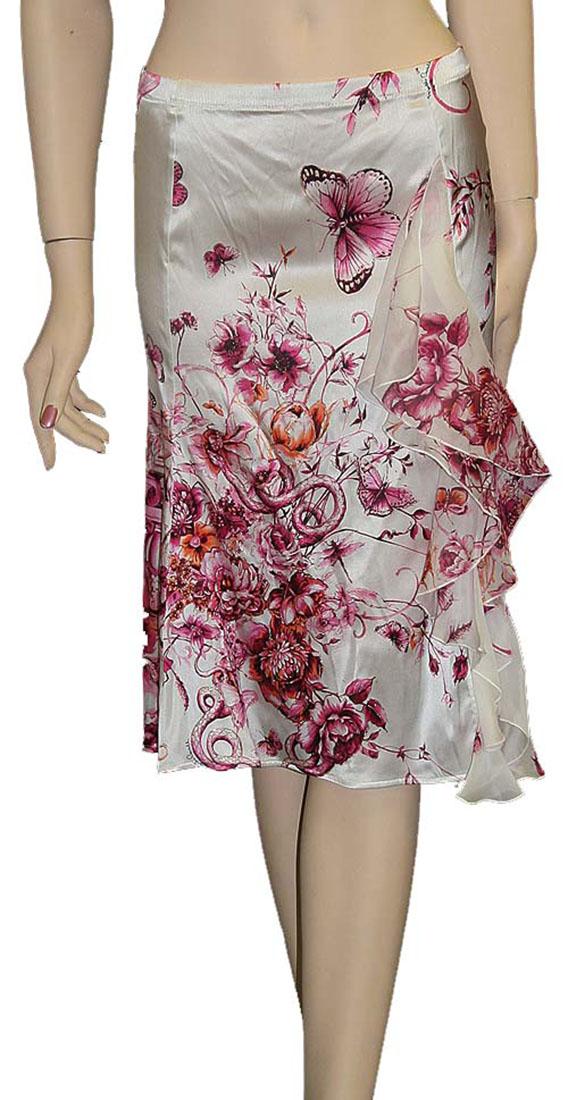 Roberto Cavalli Womens Skirt White Silk