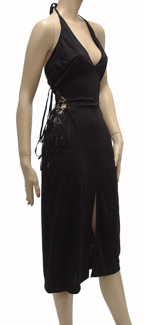 Agostino Martinez Womens Knee Length Dress Black