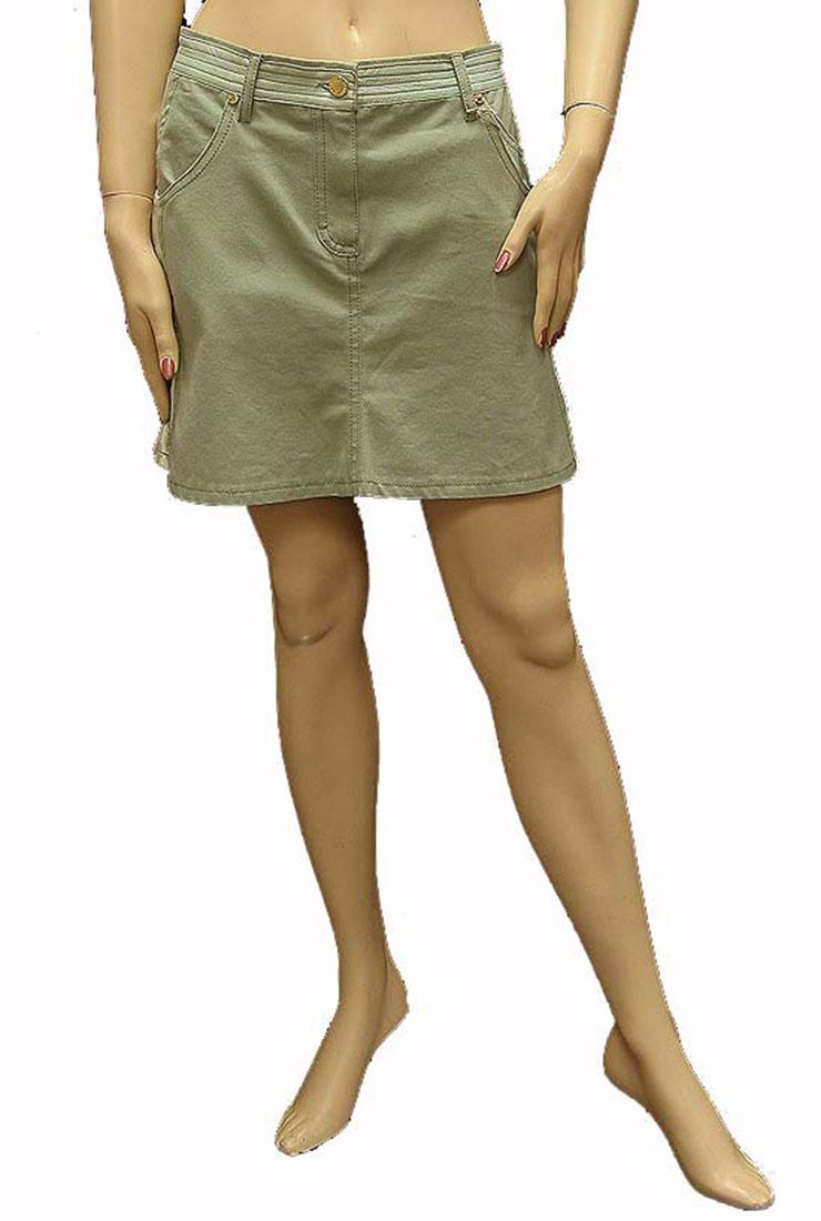 Roberto Cavalli Womens Skirt Green Cotton