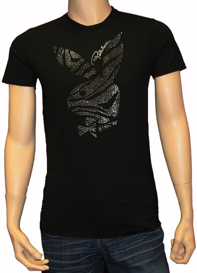 Roberto Cavalli Mens Top Blouse Shirt Black Cotton