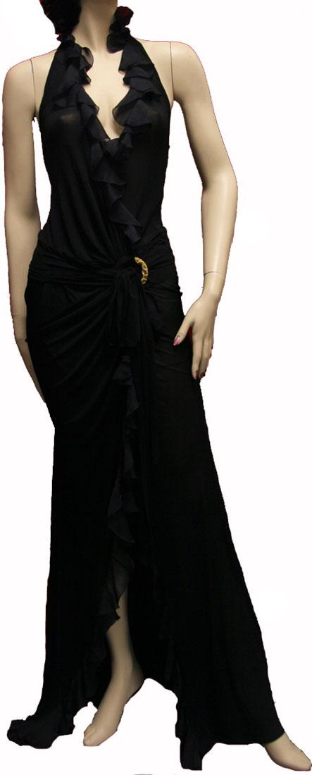 Roberto Cavalli Womens Long Dress Black