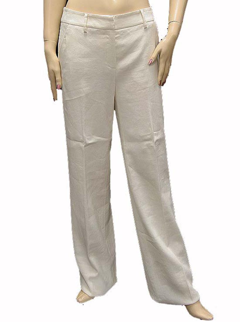 Roberto Cavalli Womens Pants Trousers White Linen