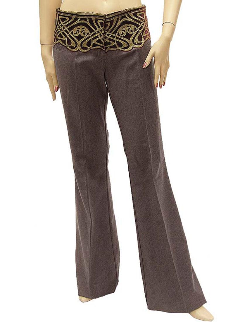 Roberto Cavalli Womens Pants Trousers Gray Wool