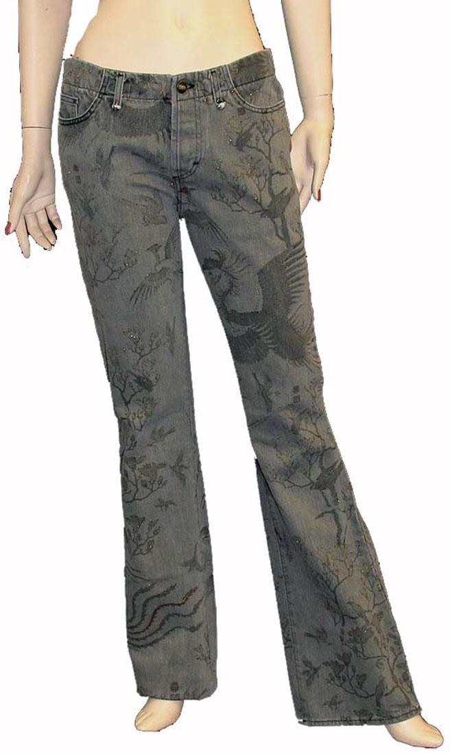 Just Cavalli Gray Cotton Jean