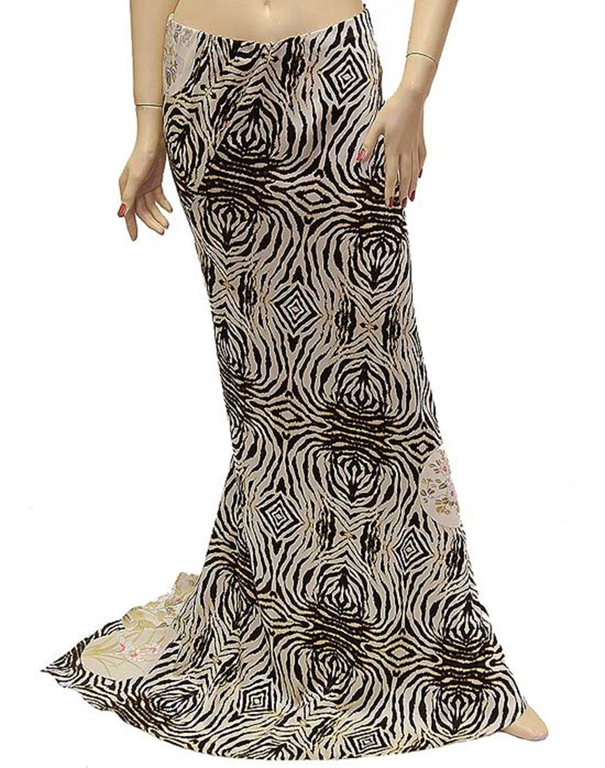 Roberto Cavalli Womens Skirt Brown Silk