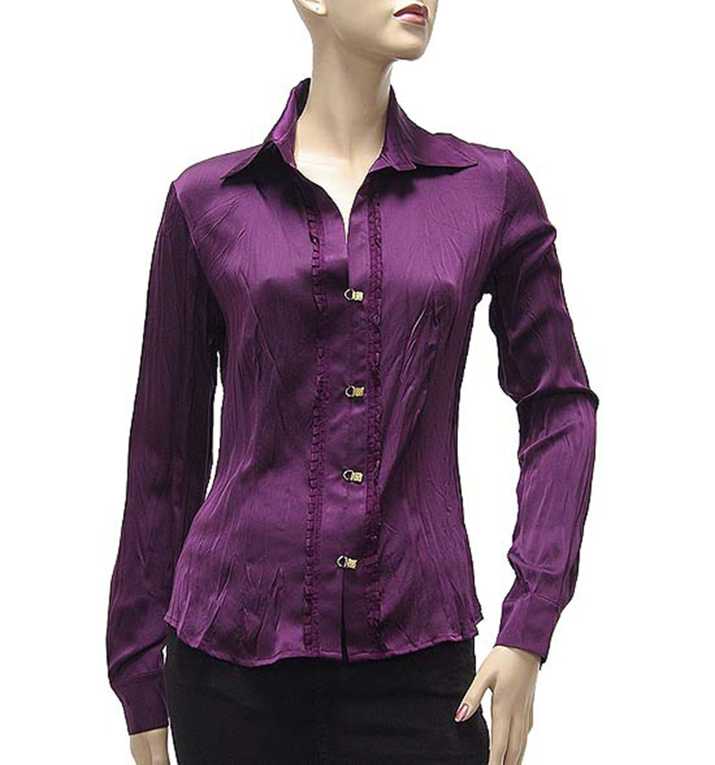 Excellent ST343 New Fashion Womensu0026#39; Floral Print Chiffion Blouse Shirt Vintage OL Business Work Blouse ...