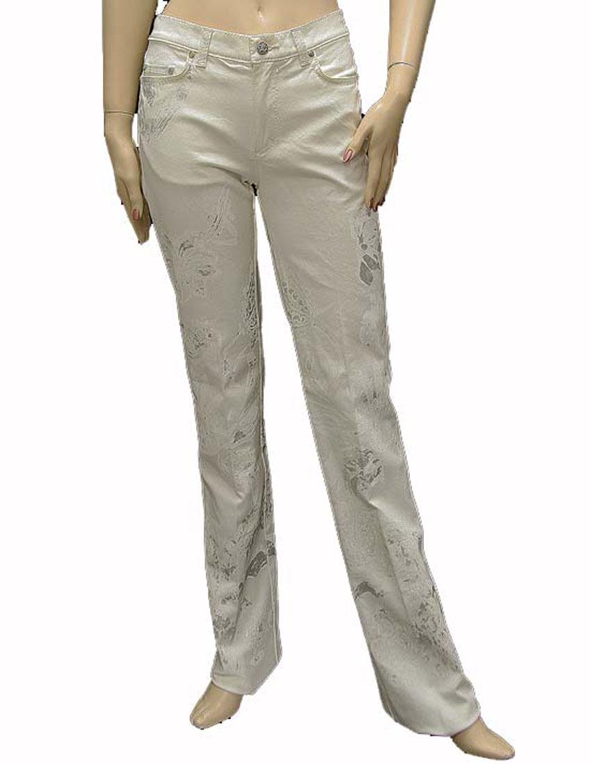 Roberto Cavalli Womens Pants Trousers White Cotton