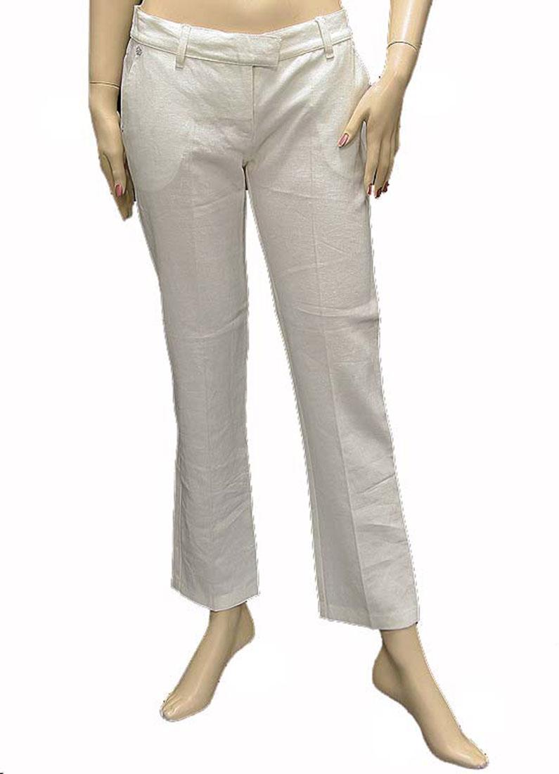 Roberto Cavalli Womens Pants Trousers White Silk