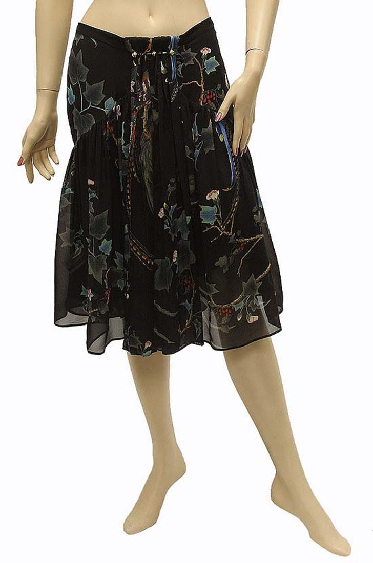 Roberto Cavalli Womens Skirt Black Silk