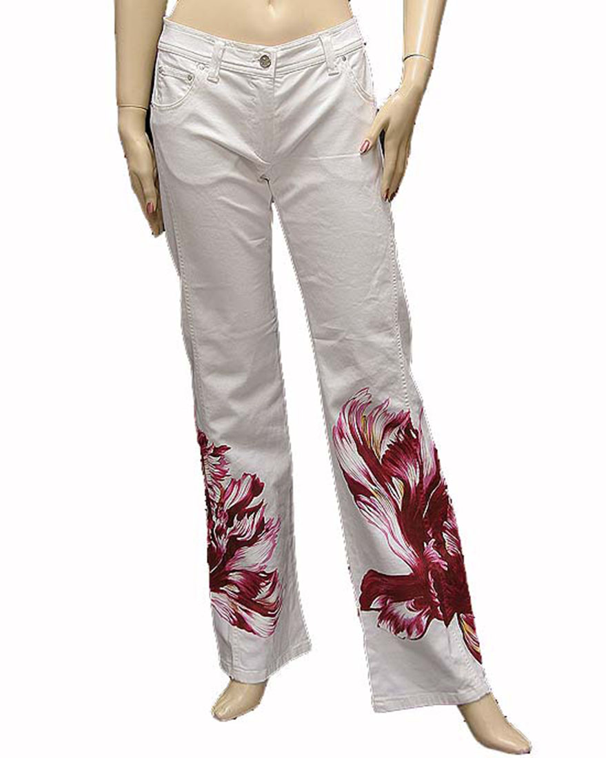 Ferre Womens Pants Trousers White Cotton