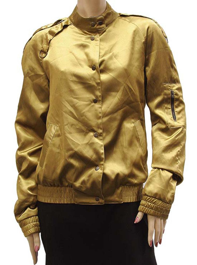 Agostino Martinez Womens Jacket Coat Mustard