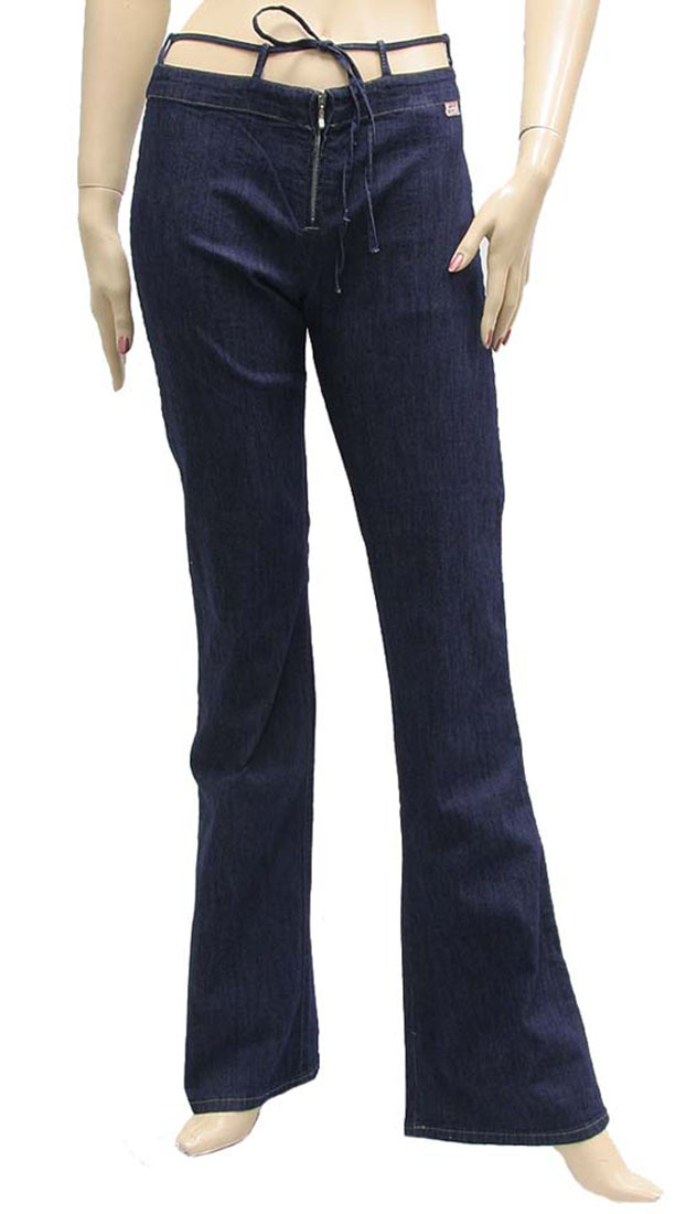Miss Sixty Womens Jeans Pants Dark Blue Cotton