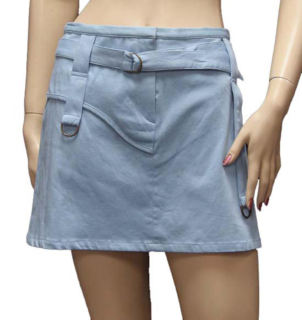 Agostino Martinez Womens Skirt Light Blue